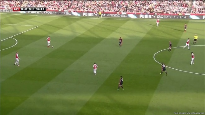 Cazorla happily drops deep to find space.